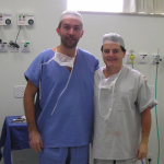 After surgery with Prof. Dr. Fausto Viterbo at Botucatu Clinic Sao Paulo, during the postgraduate course in Brazil.