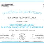 certificat de participare chirurgie axilara in epoca ganglionului santinela