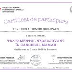 certificat de participare tratamentul neoadjuvant in cancerul mamar